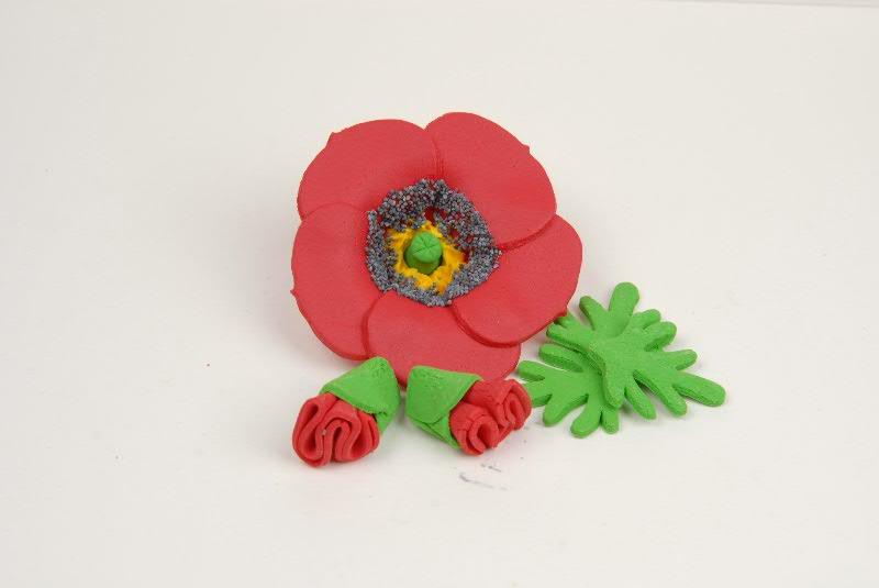 Головна квіти з мастики мак