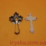 Хрестик металічний,довжина: 6см