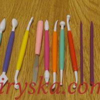 Палички для роботи з мастиою(кольорові)- 10шт.