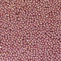 цукрові бусинки 1 мм рожевого кольору