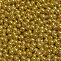 Бусинки цукрові 5мм золотистого кольору