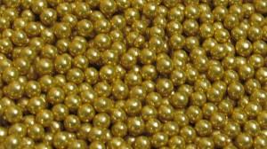 Бусинки цукрові 3мм золотистого кольору