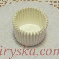 Форми для кексів білі 3*2 см(міні) 25шт