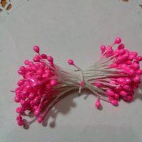 Тичинки яскраво-рожеві 3 мм,25 ниток