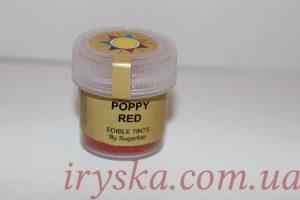 Сухий барвник для квітів Poppy red, Sugarflairs,червоний мак