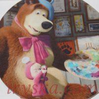 Вафельний декор Машенька та Ведмідь малюють