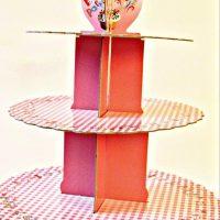 Підставка картонна 3 яруси (рожева)