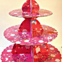 Підставка 3-ярусна з картону :Рожеві мрії