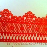 Готова стрічка для декору Айсинг, червона