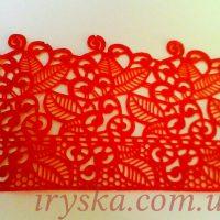 Готова стрічка для декору Айсинг 1 , рожева В наборі 3 стрічки