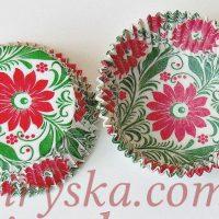"""Паперові форми для кексів """"Весна"""" 25шт"""
