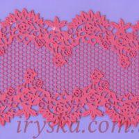 Мереживо з айсингу № 6 рожеве 3шт
