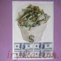Вафельний декор Долари 2