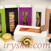 Коробка для macarons, печива та цукерок, 5 шт - фіолетові