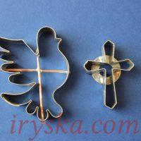 Набір вирубок: хрестик + голуб