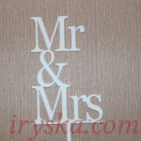 Топер для торту Mr and Mrs
