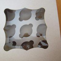 Коробка для 9-ти кексів з віконечком (5 коробок)