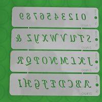 Трафарет Алфавіт, ZN632, розміри літер 2 см*1.5 см, матеріал - пластик