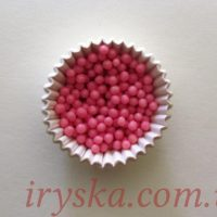 """Посипка декоративна""""Дутий рис"""" рожева з полуничним смаком 50г"""