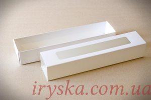 Коробка з прозорим вікном для макаронсів 5 шт