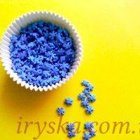 Посипка Сніжинка синя цукрова 50 г