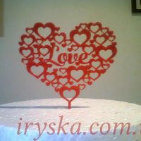 Топер Червоне серце кохання