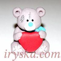 Цукрова фігурка Ведмедик з серцем 1 шт