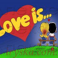 Вафельний декор love is 1 -