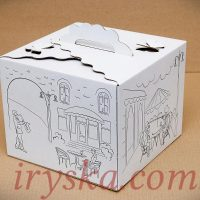 Коробка Метелик з принтом 250*250*200 мм 5 шт