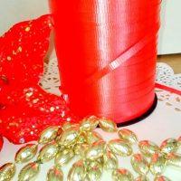 Стрічка червона поліпропілен 5мм 5 м