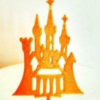 Топер замок золото