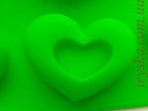 Силіконова форма Серця фігурні 6 шт