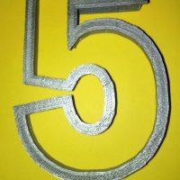 Вирубка цифра 5