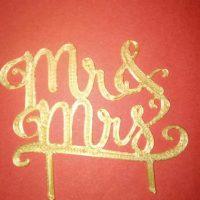 Топер Mr S Mrs,топери в торт, все для кондитерів