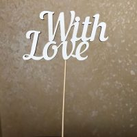 Топер With Love,фанера,білий