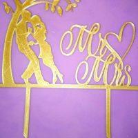 Топер Любов під деревом золото