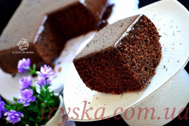 Супер шоколадно-маковий пиріг