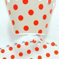 Обгортки білі в червоний горошок 10 шт