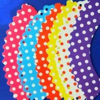 Обгортки Мікс 6 кольороів горох 12 шт