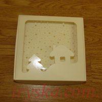 Коробка новорічна хатинка для пряника (5 шт)