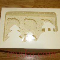 Коробка новорічна хатинка на 6 кексів(5 шт)