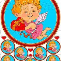 Вафельний декор Посланець кохання