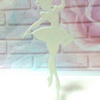 Топер балерина (білий пластик)