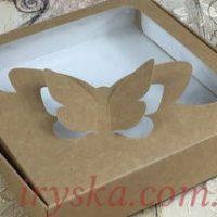 Коробка для пряника 15*15*3 крафт метелик 5 шт