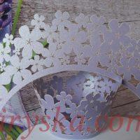 Обгортки на капкейки квіти фіолет 20шт