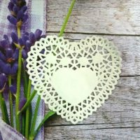 Серветка серце для тістечок,10 шт
