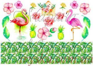 Вафельний декор Фламінго