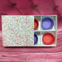 Коробка на 4 тістечка Веселка 5 шт