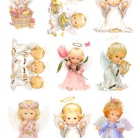 Вафельний декор ангелики