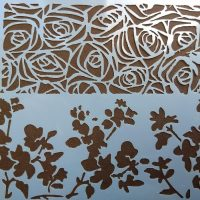 Трафарет 2в1 квіти та троянди